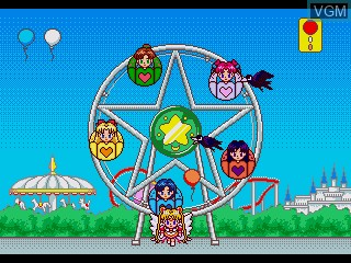 In-game screen of the game Bishoujo Senshi Sailor Moon Sailor Stars - Tokimeki Party on Sega Pico