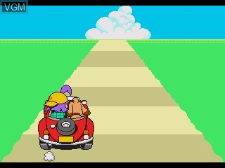 In-game screen of the game Drive Pico - Saa Shuppatsu Da! Ken-chan to Pepe no Wanpaku Drive on Sega Pico