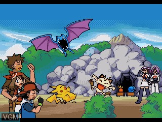 In-game screen of the game Pocket Monsters Advance Generation - Minna de Pico - Pokemon Waiwai Battle! on Sega Pico