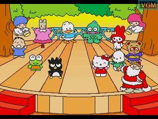 In-game screen of the game Ai to Yume no Kuni Sanrio Puroland - Chanto Dekiru Kana Minna to Tanoshii Oyuugikai on Sega Pico