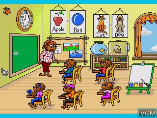 In-game screen of the game Berenstain Bears, The - A School Day on Sega Pico