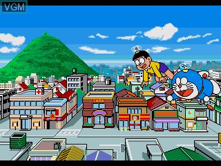In-game screen of the game Doraemon - Nobita no Machinaka Dokidoki Tanken! on Sega Pico