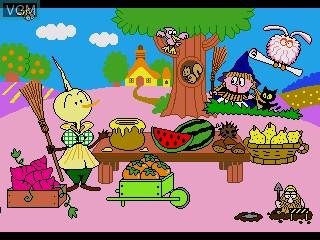 In-game screen of the game Gakken no o-Benkyou Soft - Hiragana on Sega Pico