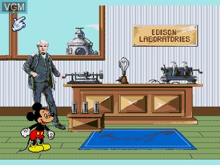 In-game screen of the game Mickey's Blast into the Past on Sega Pico