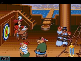 In-game screen of the game Peter Pan - Neverland e Ikou! on Sega Pico