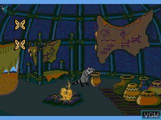 In-game screen of the game Pocahontas on Sega Pico