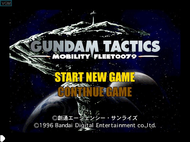 Title screen of the game Gundam Tactics -Mobility Fleet0079- on Apple Pippin