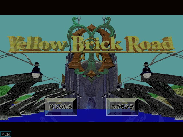 Title screen of the game Yellow Brick Road I on Apple Pippin