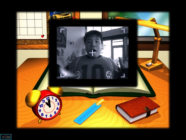 Menu screen of the game Zukkoke Sanningumi -Drama Satsujinjiken- on Apple Pippin