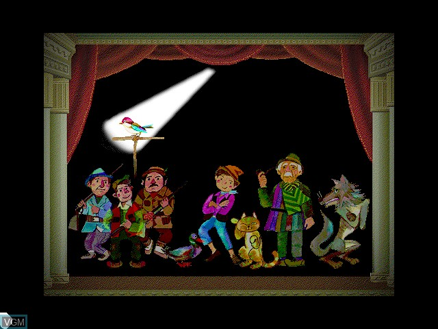 In-game screen of the game Music ISLAND vol.1 Prokofiev Peter & the Wolf on Apple Pippin