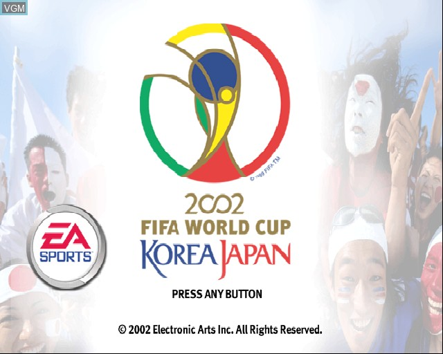 Title screen of the game 2002 FIFA World Cup on Sony Playstation 2
