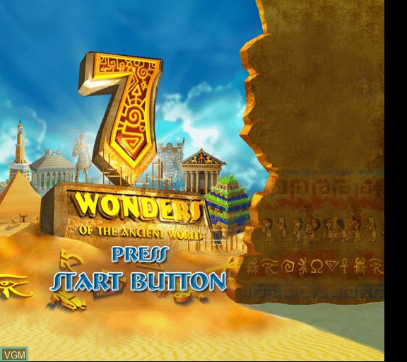 Title screen of the game 7 Wonders of the Ancient World on Sony Playstation 2