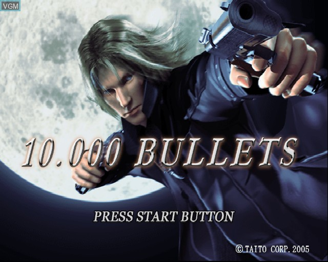 Title screen of the game 10,000 Bullets on Sony Playstation 2