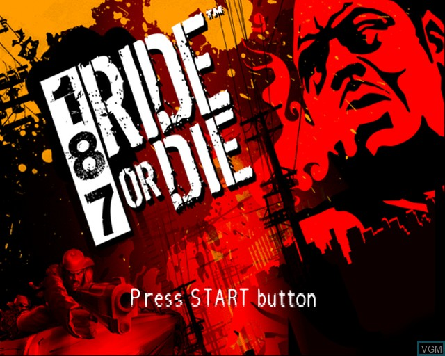 Title screen of the game 187 Ride or Die on Sony Playstation 2