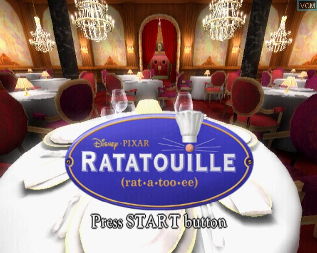 Title screen of the game Ratatouille on Sony Playstation 2