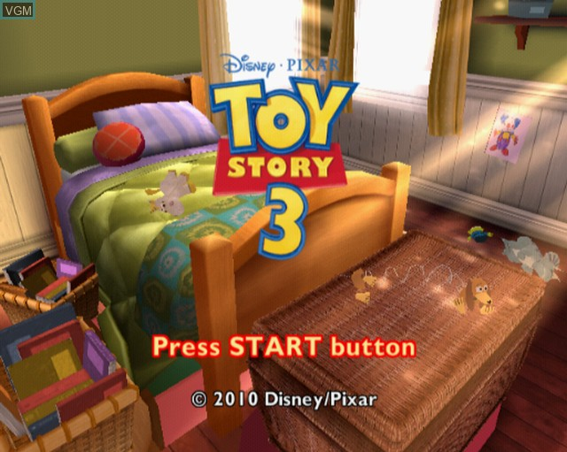 Title screen of the game Toy Story 3 on Sony Playstation 2
