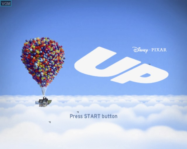 Title screen of the game Up on Sony Playstation 2