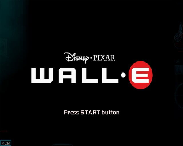 Title screen of the game WALL-E on Sony Playstation 2