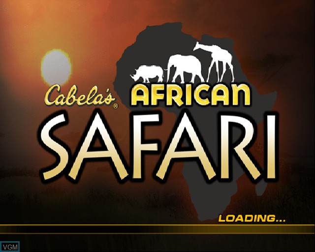 Title screen of the game Cabela's African Safari on Sony Playstation 2