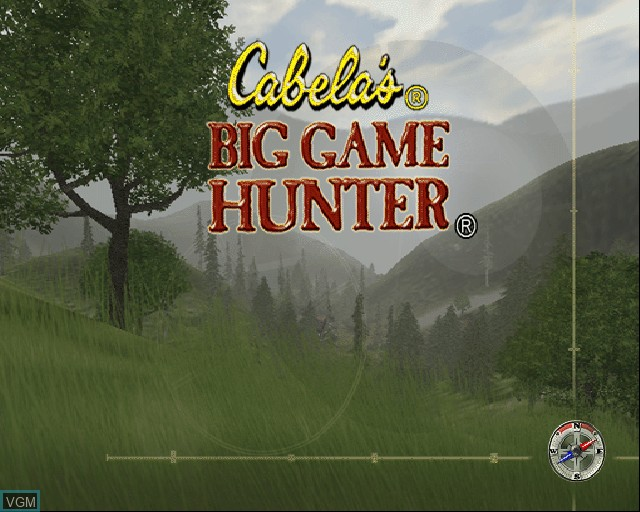 Title screen of the game Cabela's Big Game Hunter on Sony Playstation 2