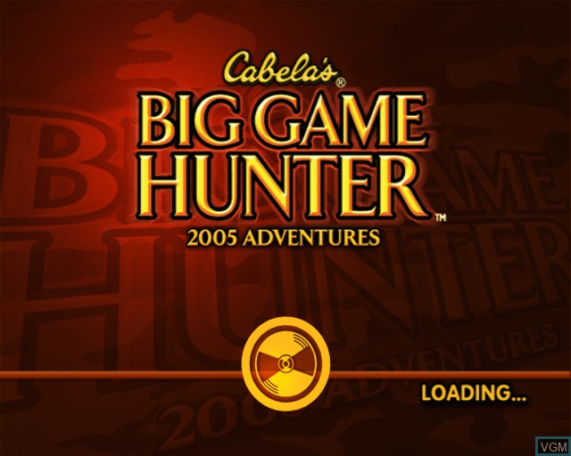 Title screen of the game Cabela's Big Game Hunter 2005 Adventures on Sony Playstation 2