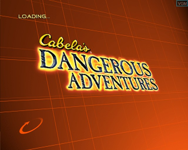 Title screen of the game Cabela's Dangerous Adventures on Sony Playstation 2