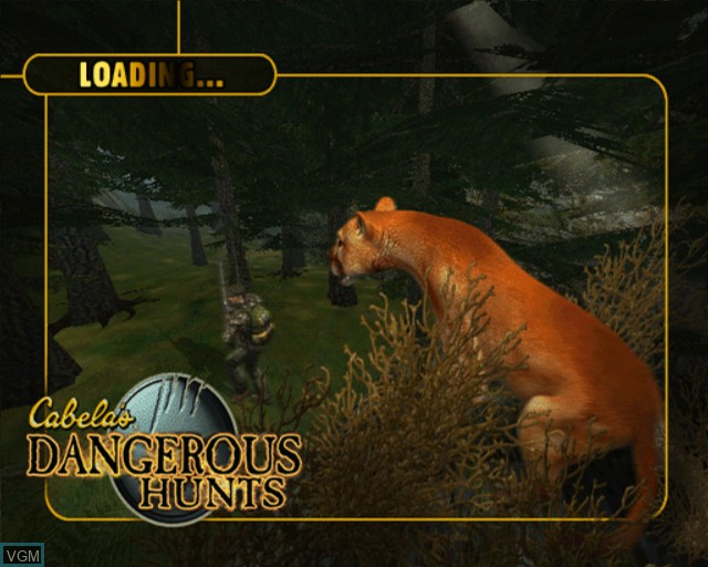 Title screen of the game Cabela's Dangerous Hunts on Sony Playstation 2