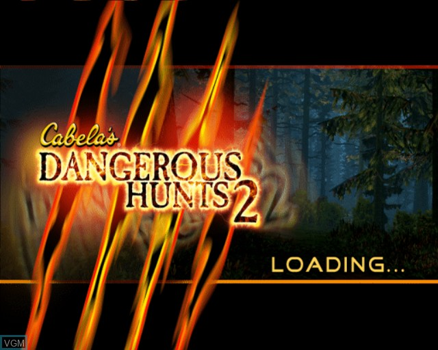Title screen of the game Cabela's Dangerous Hunts 2 on Sony Playstation 2