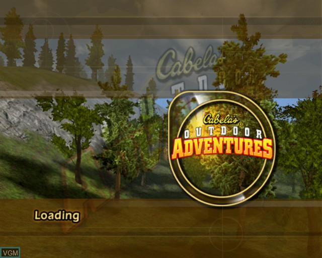 Title screen of the game Cabela's Outdoor Adventures on Sony Playstation 2