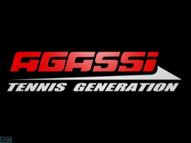 Title screen of the game Agassi Tennis Generation on Sony Playstation 2