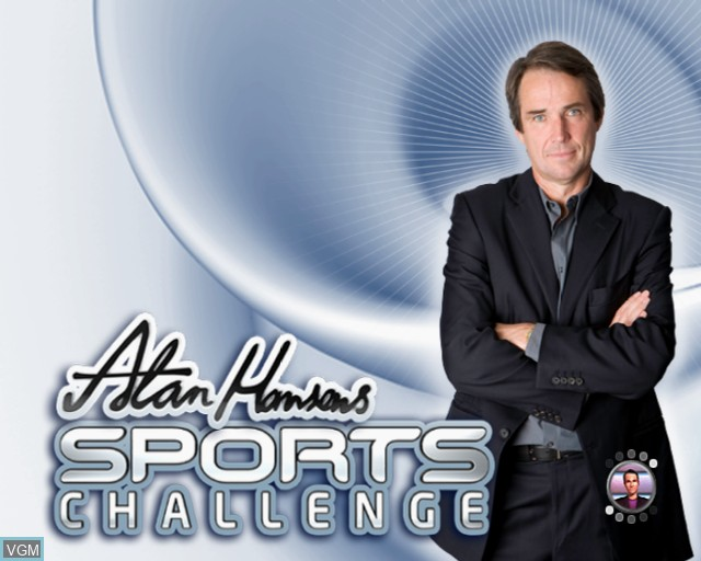 Title screen of the game Alan Hansen's Sports Challenge on Sony Playstation 2