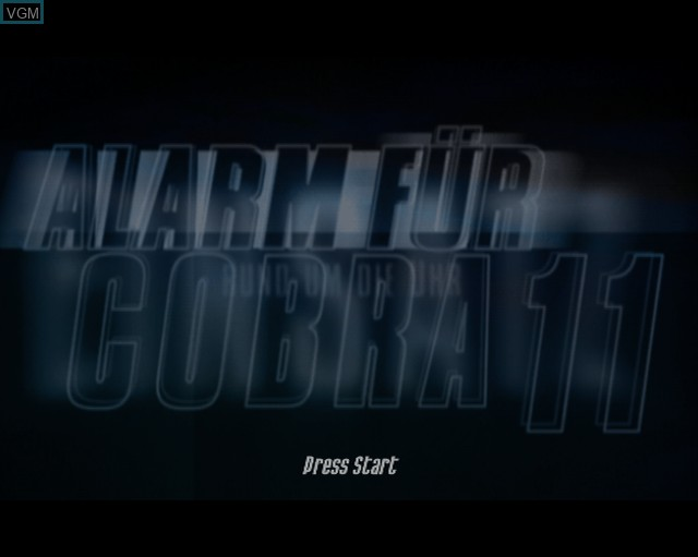 Title screen of the game Alarm for Cobra 11 Vol. 2 - Hot Pursuit on Sony Playstation 2