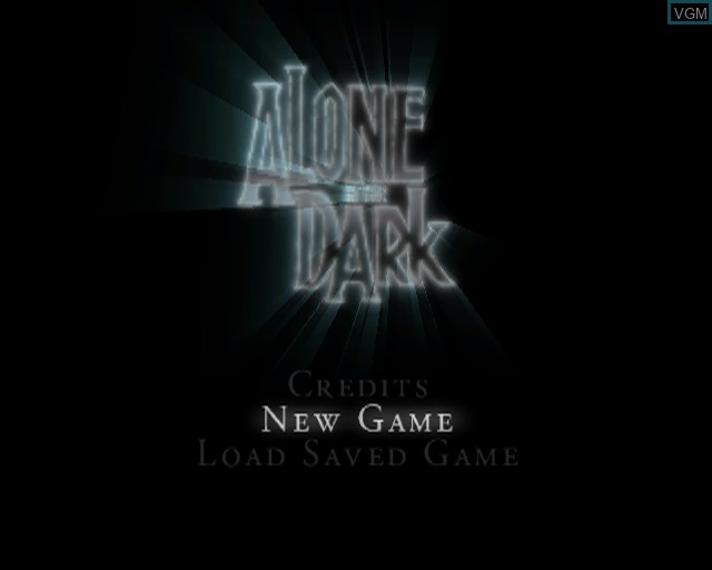 Title screen of the game Alone in the Dark on Sony Playstation 2