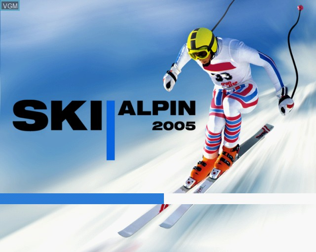 Title screen of the game Alpine Skiing 2005 on Sony Playstation 2