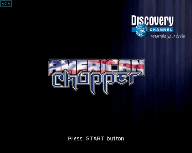 Title screen of the game American Chopper on Sony Playstation 2