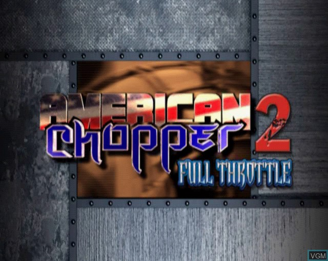 Title screen of the game American Chopper 2 - Full Throttle on Sony Playstation 2
