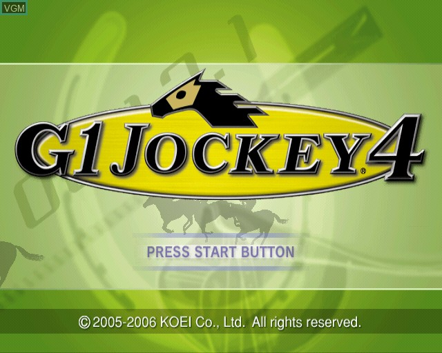 Title screen of the game G1 Jockey 4 on Sony Playstation 2