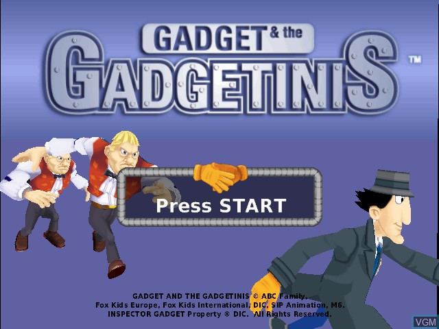 Title screen of the game Gadget & the Gadgetinis on Sony Playstation 2