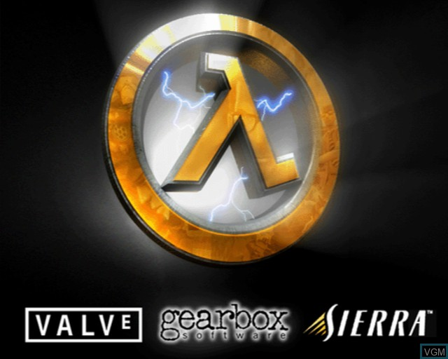 Title screen of the game Half-Life on Sony Playstation 2