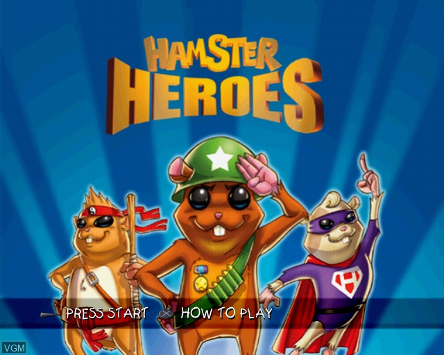Title screen of the game Hamster Heroes on Sony Playstation 2