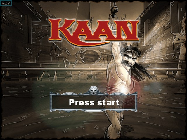 Title screen of the game Kaan - Barbarian's Blade on Sony Playstation 2