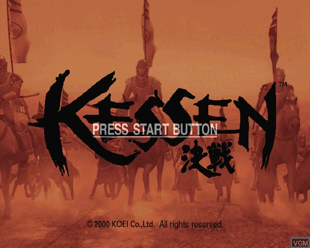 Title screen of the game Kessen on Sony Playstation 2