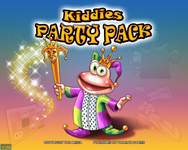 Title screen of the game Kiddies Party Pack on Sony Playstation 2
