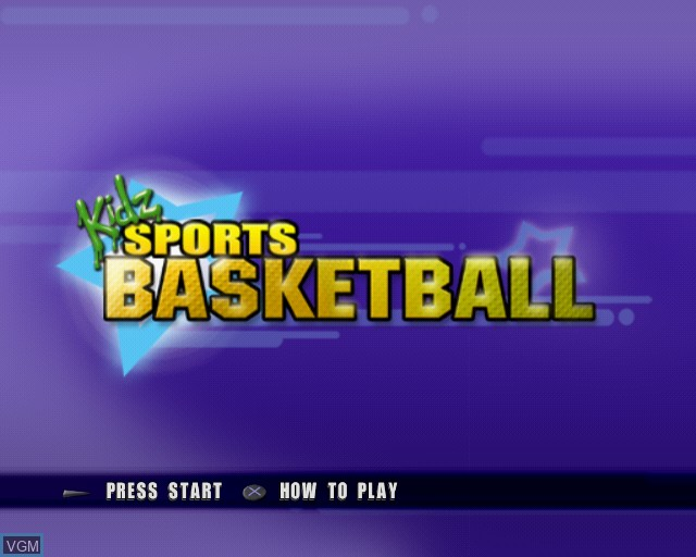Title screen of the game Kidz Sports Basketball on Sony Playstation 2