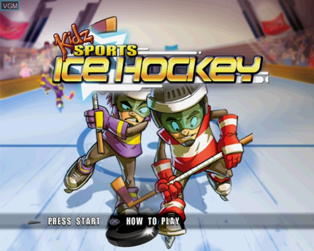 Title screen of the game Kidz Sports Ice Hockey on Sony Playstation 2
