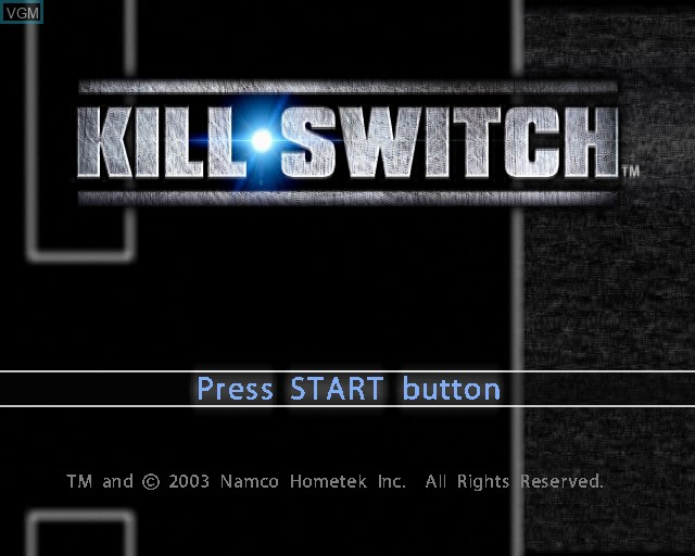 Title screen of the game kill.switch on Sony Playstation 2
