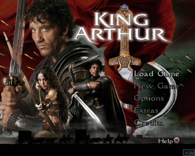 Title screen of the game King Arthur on Sony Playstation 2