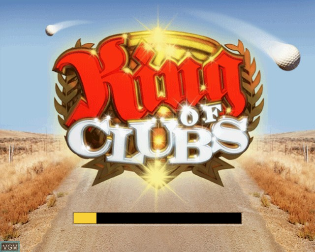 Title screen of the game King of Clubs on Sony Playstation 2