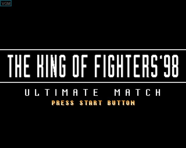 Title screen of the game King of Fighters '98 Ultimate Match, The on Sony Playstation 2