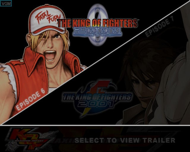 Title screen of the game King of Fighters 2000-2001, The - The Saga Continues on Sony Playstation 2